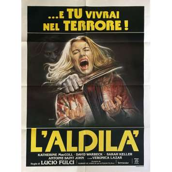 THE BEYOND Movie Poster 39x55 in. - 1981 - Lucio Fulci, Catriona MacColl