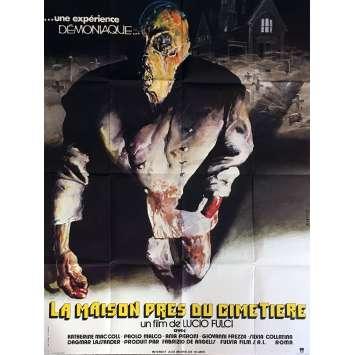 LA MAISON PRES DU CIMETIERE Affiche de film 120x160 cm - 1981 - Catriona McColl, Lucio Fulci