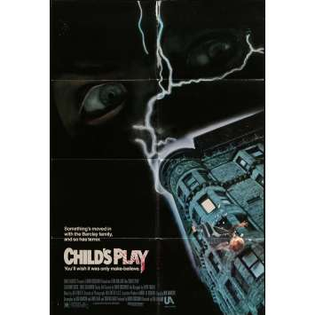 CHILD'S PLAY Movie Poster 29x41 in. - 1988 - Tom Holland, Catherine Hicks
