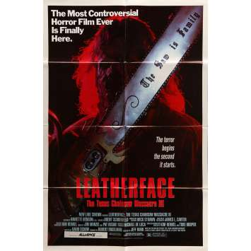 LEATHERFACE Movie Poster 29x41 in. - 1990 - Jeff Burr, Kate Hodge