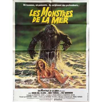 HUMANOIDS FROM THE DEEP Movie Poster 32x47 in. - 1980 - Barbara Peeters, Doug McClure