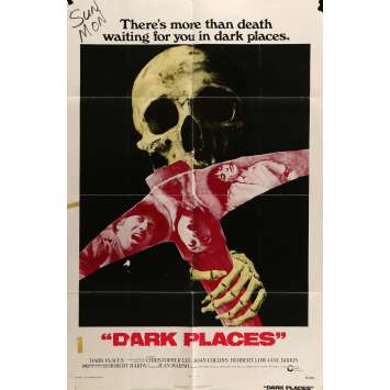 DARK PLACES Movie Poster 29x41 in. - 1973 - Don Sharp, Christopher Lee