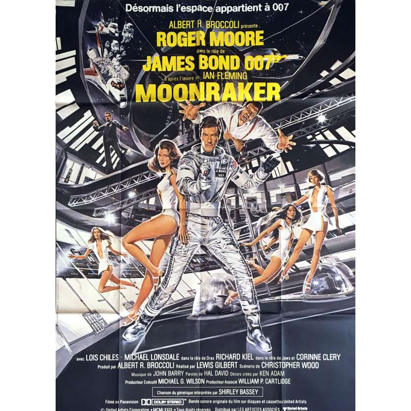 MOONRAKER French Movie Poster 47x63 - 1979 - Lewis Gilbert, Roger Moore
