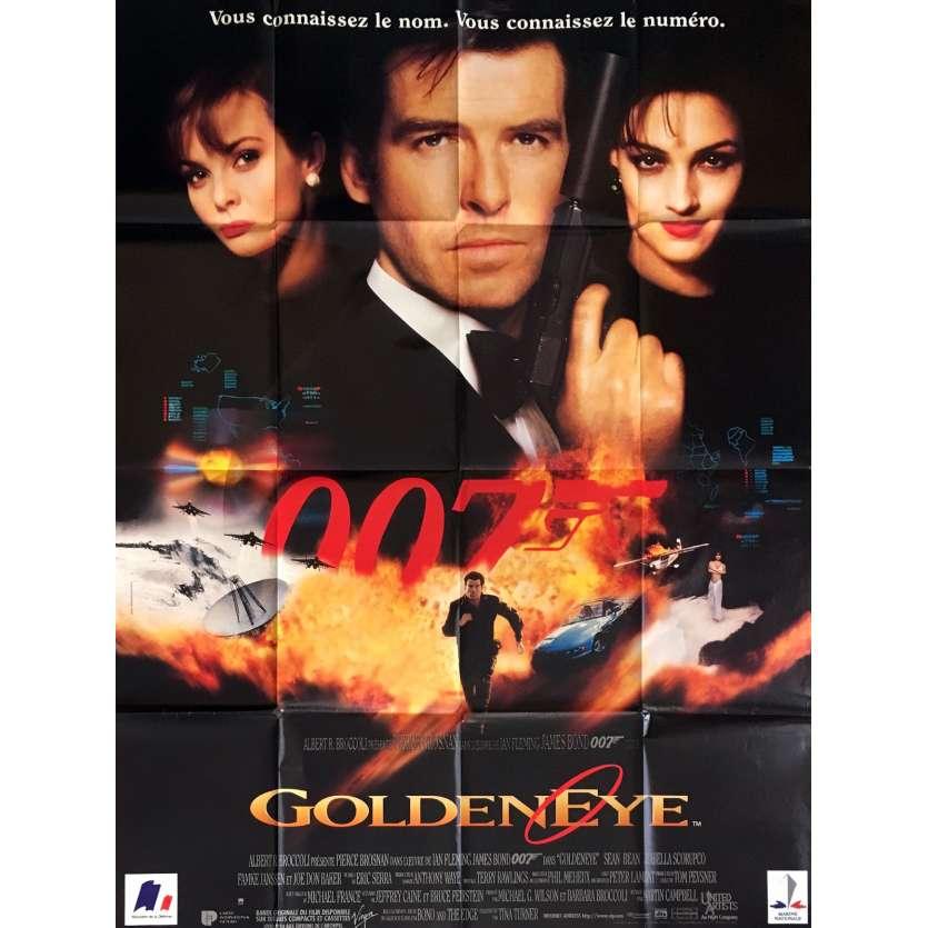 GOLDENEYE French Movie Poster 47x63 '95 Pierce Brosnan, 007 James Bond