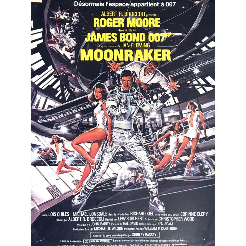 MOONRAKER French Movie Poster 15x21 - 1979 - Lewis Gilbert, Roger Moore