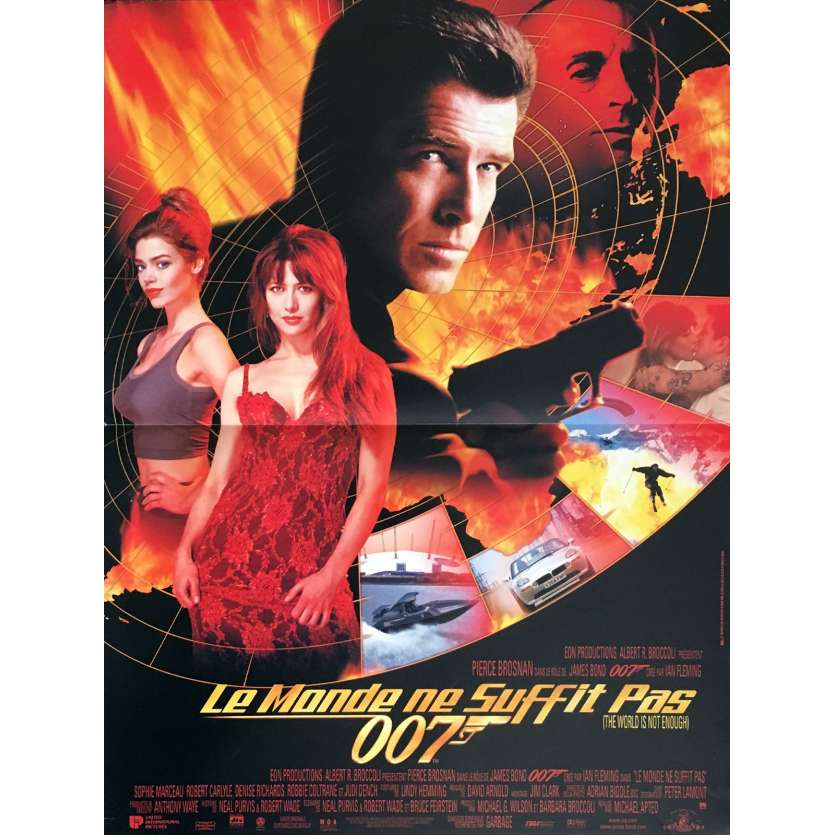 JAMES BOND World is not Enough French Movie Poster 15x21 '99 P. Brosnan 007