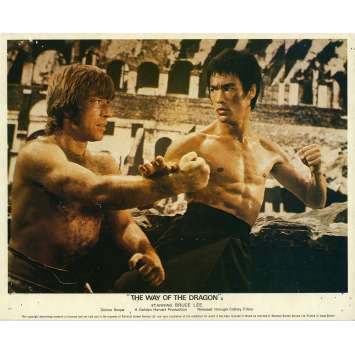 THE RETURN OF THE DRAGON Lobby Card N01 8x10 in. - 1972 - Bruce Lee, Chuck Norris