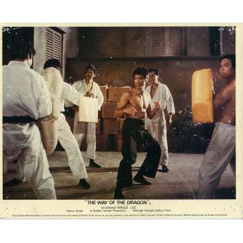 THE RETURN OF THE DRAGON Lobby Card N02 8x10 in. - 1972 - Bruce Lee, Chuck Norris