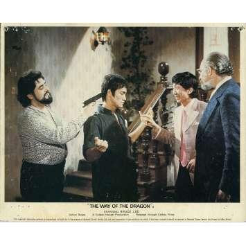 THE RETURN OF THE DRAGON Lobby Card N04 8x10 in. - 1972 - Bruce Lee, Chuck Norris