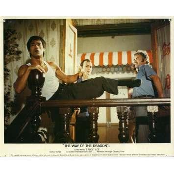THE RETURN OF THE DRAGON Lobby Card N05 8x10 in. - 1972 - Bruce Lee, Chuck Norris