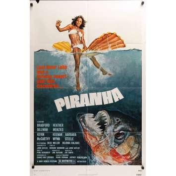 PIRANHA Movie Poster 29x41 in. - 1978 - Joe Dante, Barbara Steele