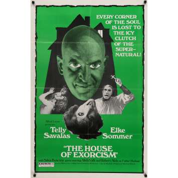 THE HOUSE OF EXORCISM Movie Poster 29x41 in. - 1975 - Mario Bava, Telly Savalas