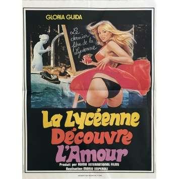 LA LYCEENNE DECOUVRE L'AMOUR Affiche de film 40x60 cm - 1974 - Gloria Guida, Mario Imperoli