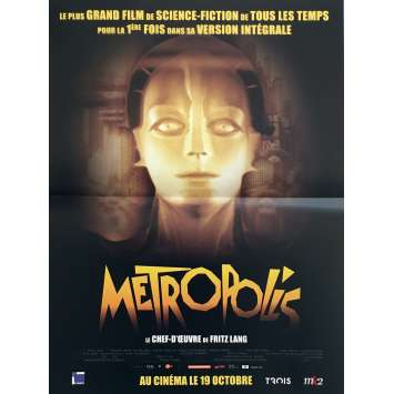 METROPOLIS Movie Poster 15x21 in. - R1980 - Fritz Lang, Brigitte Helm