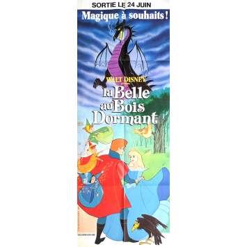 LA BELLE AU BOIS DORMANT Affiche de film 60x160 cm - R1971 - Mary Costa, Walt Disney