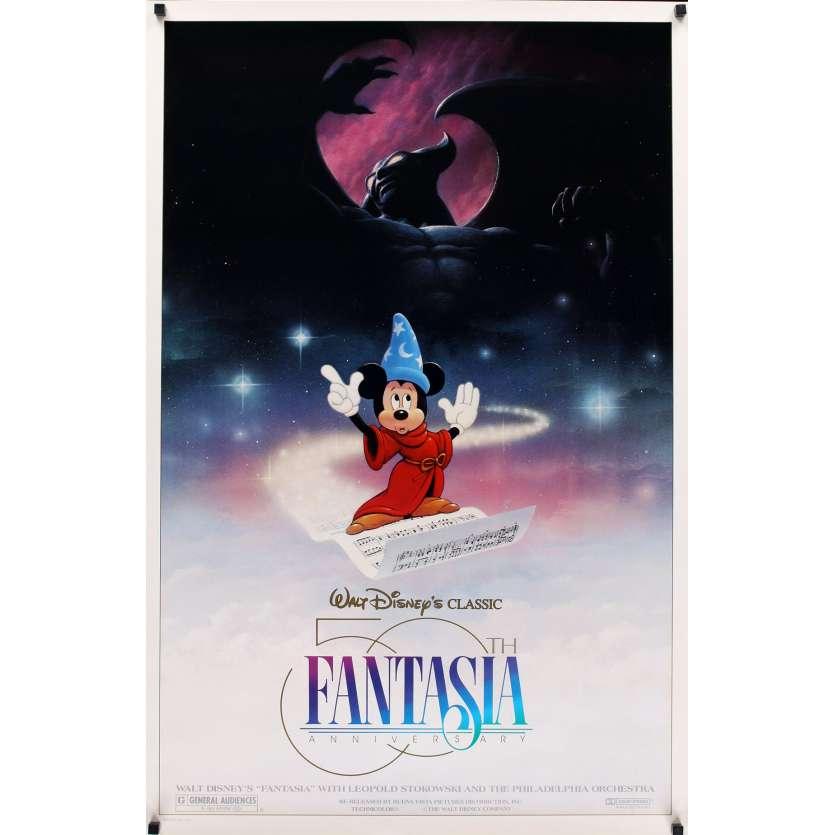 FANTASIA Affiche de film 69x104 - R1990 Walt Disney
