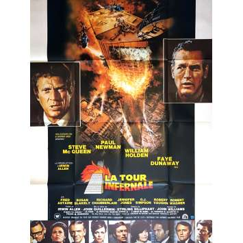 TOUR INFERNALE Affiche de film 120x160 - 1974 - Steve Mc Queen, Paul Newman