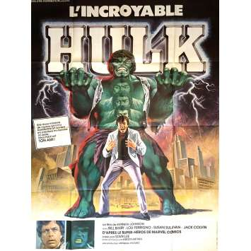 L'INCROYABLE HULK Affiche de film 120x160 cm - 1978 - Lou Ferrigno, Kenneth Johnson