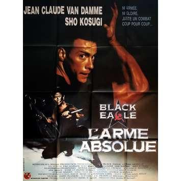 BLACK EAGLE L'ARME ABSOLUE Affiche de film 120x160 cm - 1988 - Jean-Claude Van Damme, Erik Carson