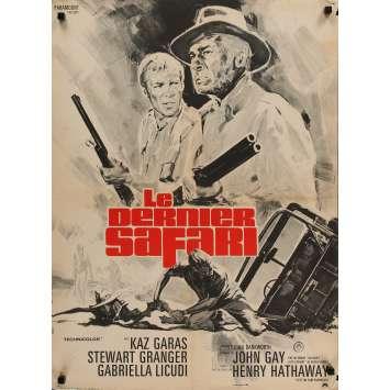 LE DERNIER SAFARI Affiche de film 60x80 cm - 1967 - Stewart Granger, Henry Hathaway