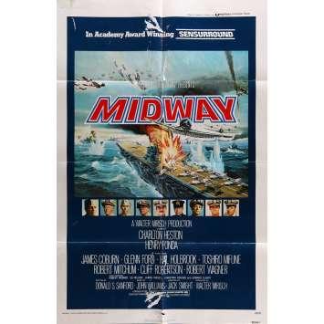 LA BATAILLE DE MIDWAY Affiche de film 69x104 cm - 1976 - Charlton Heston, Jack Smight