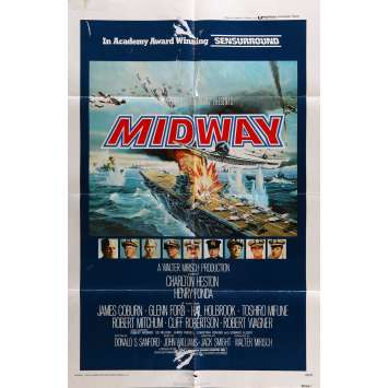 MIDWAY Movie Poster 29x41 in. - 1976 - Jack Smight, Charlton Heston