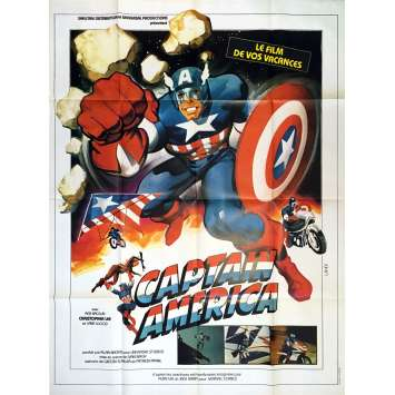 CAPTAIN AMERICA 79 Affiche de film 120x160 cm - 1979 - Christopher Lee, Ivan Nagy