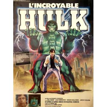 L'INCROYABLE HULK Affiche de film 40x60 cm - 1978 - Lou Ferrigno, Kenneth Johnson