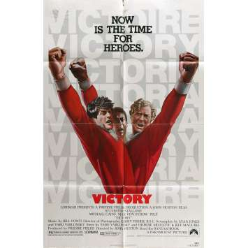 VICTORY Movie Poster 29x41 in. - 1981 - Stallone, Pelé, Caine, Football !