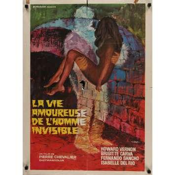 ORLOFF ET L'HOMME INVISIBLE Affiche de film 60x80 cm - 1970 - Howard Vernon, Pierre Chevalier