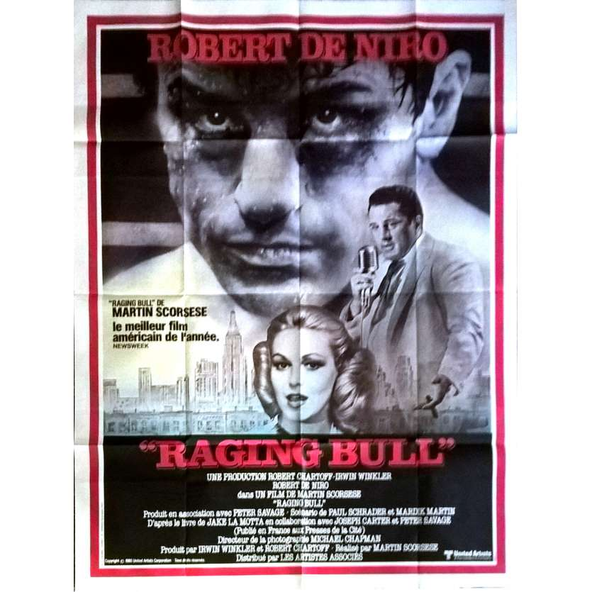 RAGING BULL Movie Poster Mod. B 47x63 in. French - 1980 - Martin Scorsese, Robert de Niro