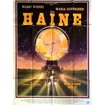 HAINE Affiche de film 120x160 cm - 1980 - Klaus Kinski, Dominique Goult