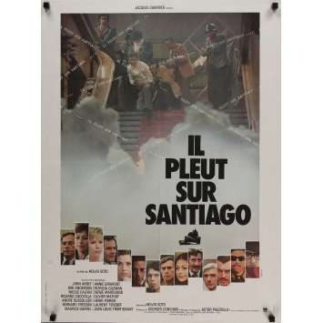 IT'S RAINING IN SANTIAGO Movie Poster 23x32 in. - 1975 - Helvio Soto, Jean-Louis Trintignant