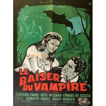 LE BAISER DU VAMPIRE Affiche de film 60x80 cm - 1963 - Clifford Evans, Don Sharp