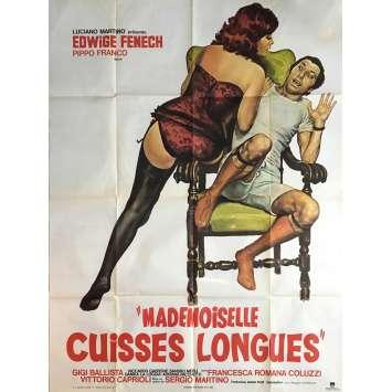 MADEMOISELLE CUISSE LONGUE Affiche de film 120x160 cm - 1973 - Edwige Fenech, Sergio Martino