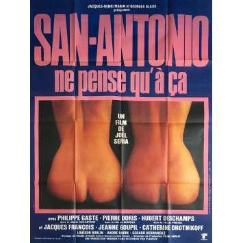 SAN ANTONIO NE PENSE QU'A CA Affiche de film 120x160 cm - 1981 - Frédéric Dard, Joel Seria