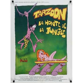 TARZOON LA HONTE DE LA JUNGLE Affiche de film 60x80 cm - 1975 - Bernard Dhéran, Picha