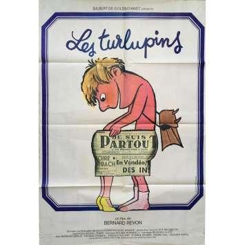 LES TURLUPINS Affiche de film 80x120 cm - 1980 - Bernard Brieux, Bernard Revon