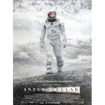 INTERSTELLAR Affiche de film 40X60 - 2014 - Matthew McConaughey, Christopher Nolan