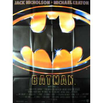 BATMAN French one-panel poster '89 Michael Keaton, Jack Nicholson, directed by Tim Burton!