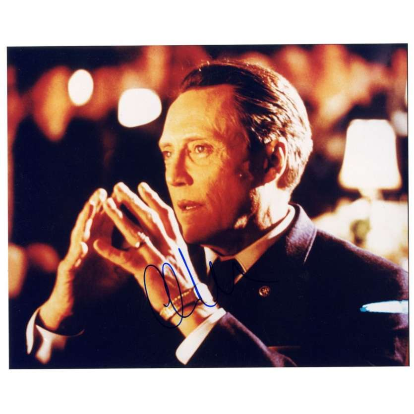 CHRISTOPHER WALKEN signed color 8x10 REPRO still '02 close up of the brooding tough guy!