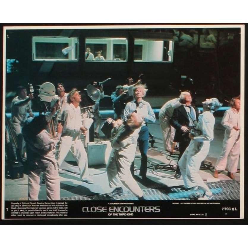 CLOSE ENCOUNTERS OF THE THIRD KIND 8x10 mini LC N7 '77 Steven Spielberg, Truffaut, Dreyfuss!