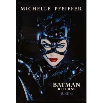 BATMAN 2 le défi Tim Burton Affiche Originale US '92 Michelle Pfeiffer