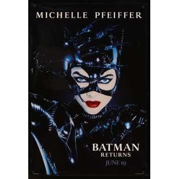 BATMAN 2 le défi Tim Burton Affiche Originale US '92 Michelle Pfeiffer