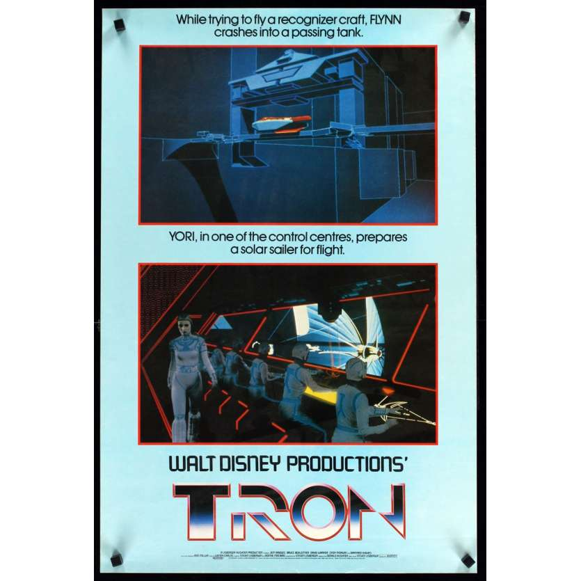 TRON English Poster double crown '82 Jeff Bridges Disney