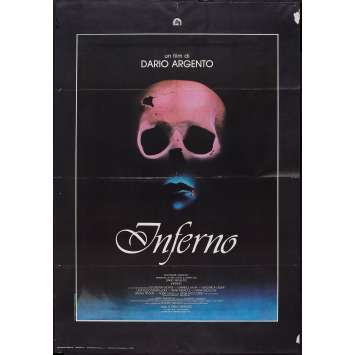 INFERNO Italian 1p '80 Dario Argento horror, really cool skull & bleeding mouth image!