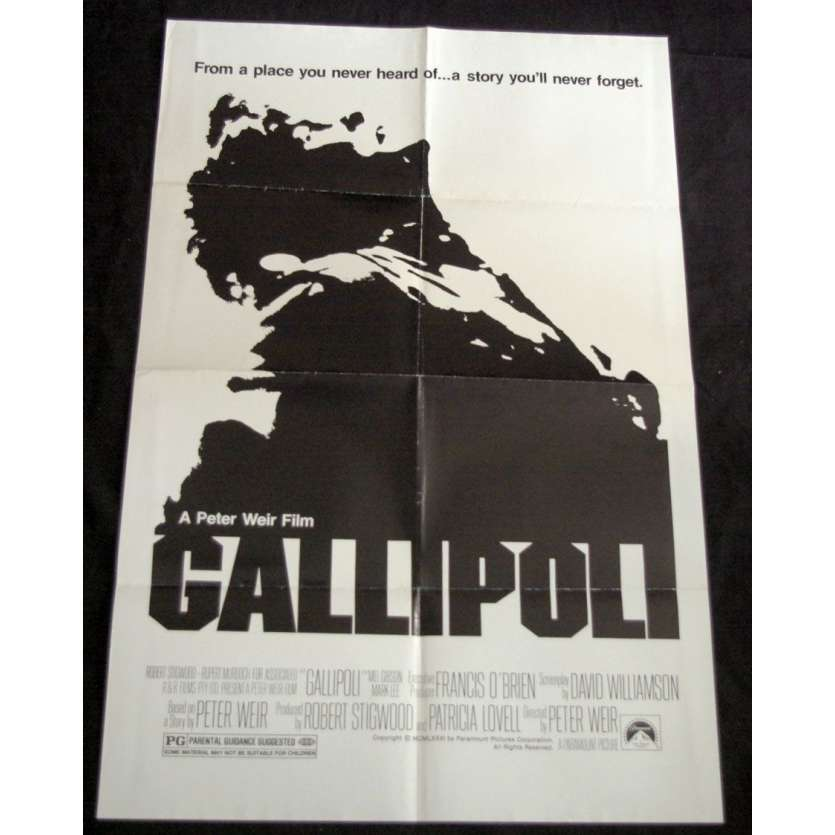 GALLIPOLI Affiche US '85 Peter Weir Vintage Movie Poster