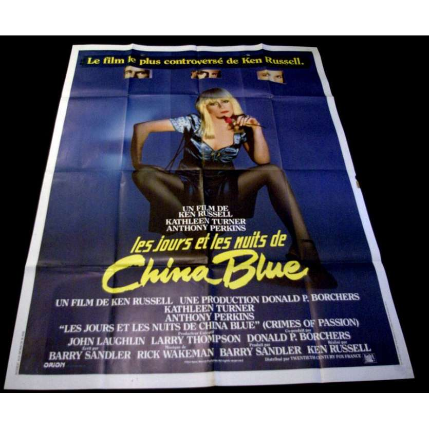 CHINA BLUE French One Panel 47x63 Movie Poster '84 Ken Russel Kathleen Turner