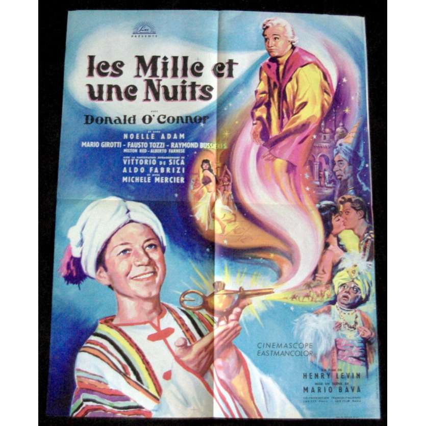 WONDERS OF ALADDIN French 1P Movie Poster '61 Mario Bava