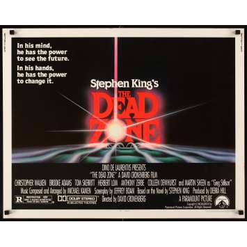 DEAD ZONE Affiche Américaine '83 David Cronenberg, Stephen King Movie Poster